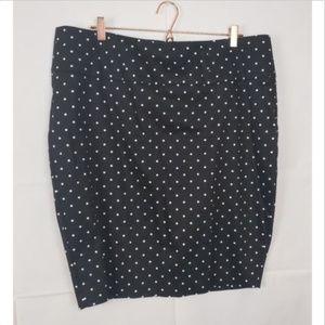 Torrid Polka Dot Pencil Skirt